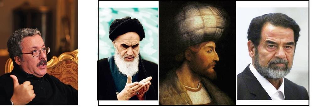 (soldan sağa)vefat eden İran İslam Devrimi'nin öncüsü Ayetullah Humeyni, Şia ile Sünni dünya arasındaki yakınlığı sağlayan bir köprü gibiydi...- Osmanlı'yı kendine en büyük rakip olarak gören Şah İsmail, Portekizlilerle anlaşarak kendince Osmanlı'nın kuyusunu kazacağını düşünüyordu...- Saddam Hüseyin döneminde İran ile Irak arasında sekiz yıl süren savaşta iki Müslüman halkın en değerli elemanları birbirine kırdırılmıştır.