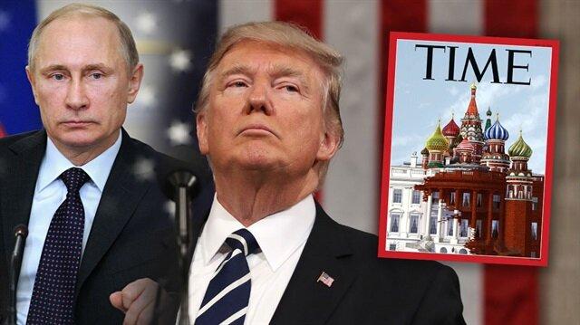 Time'dan 'Beyaz Saray Kremlin Sarayı'an dönüşüyor' göndermesi