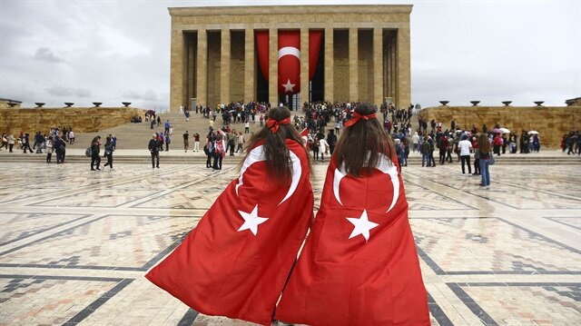 Many young people from across Turkey came to Anıtkabir to participate in the ceremony.