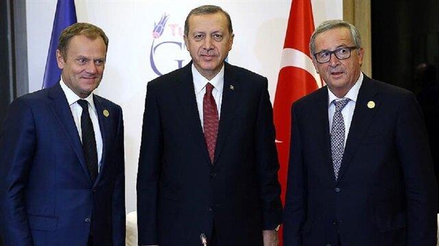 Cumhurbaşkanı Erdoğan 25 Mayıs'ta Avrupa Birliği (AB) Konseyi Başkanı Donald Tusk ve AB Komisyonu Başkanı Jean-Claude Juncker ile görüşecek.