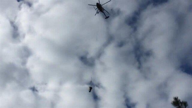 Helikopterle beton dökmek