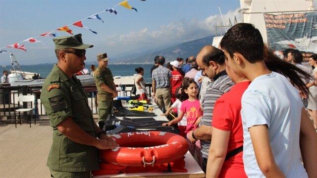 Yerli üretim Sahil Güvenlik gemisine vatandaşlardan yoğun ilgi-Hatay haber
