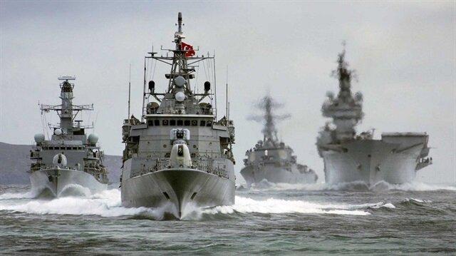 Türk Deniz Kuvvetleri'nin faaliyetlerinden bir kare.