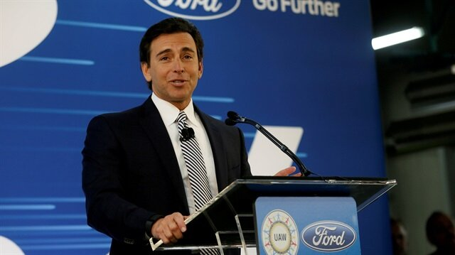Ford Motor Co. president and CEO Mark Fields makes a major announcement during a news conference at the Flat Rock Assembly Plant in Flat Rock, Michigan, U.S. January 3, 2017.