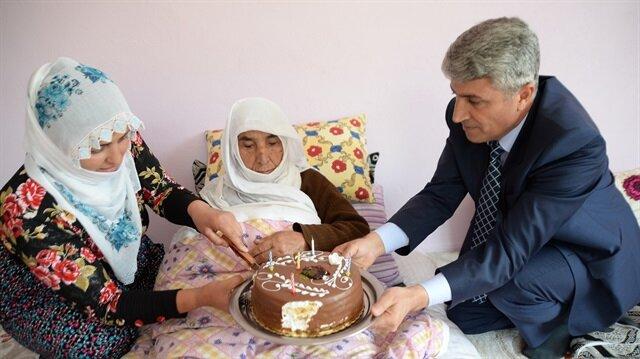 A birthday party was organized for Asiye Sutlu.
