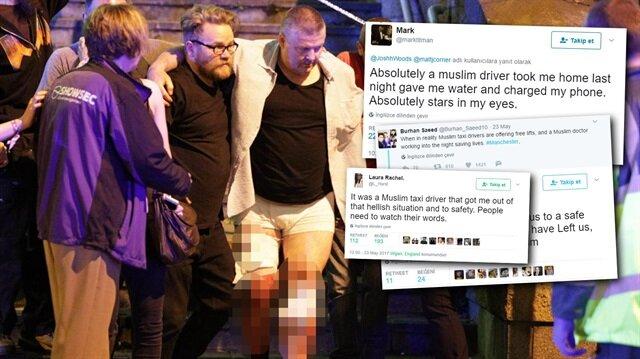 İngiliz vatandaşlardan Müslüman şoförlere teşekkür