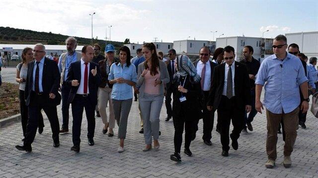 US envoy to UN visits refugee shelter in south Turkey