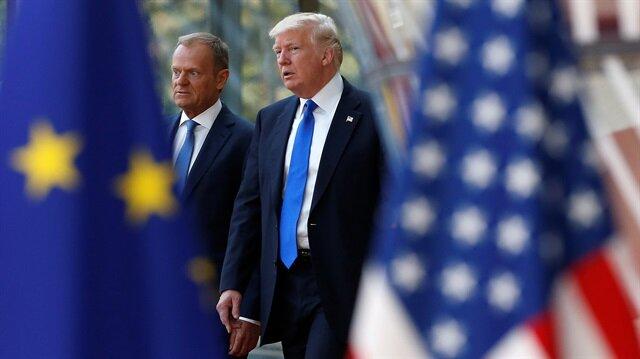 Trump meets EU chiefs in Brussels