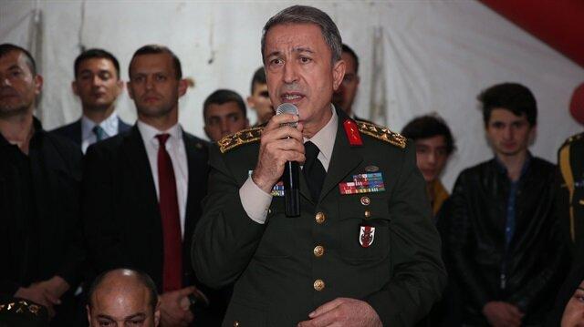 Genelkurmay Başkanı Akar'dan 'terör' açıklaması