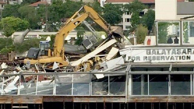 G.Saray Adası yıkıldı