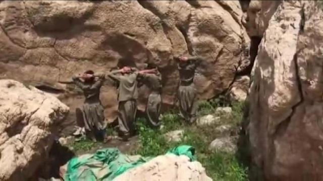 Siirt'te 4 terörist böyle teslim oldu