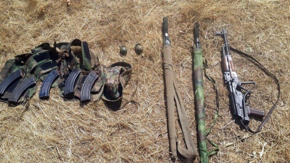 Operasyonda tanksavar silahı, bir kalaşnikof piyade tüfeği, beş dolu şarjör, üç el bombası, bir RPG-7 ve dört RPG-7 mühimmatı ele geçirildi.