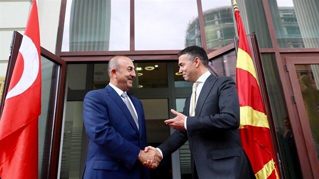 Dışişleri Bakanı Çavuşoğlu Makedonya'da