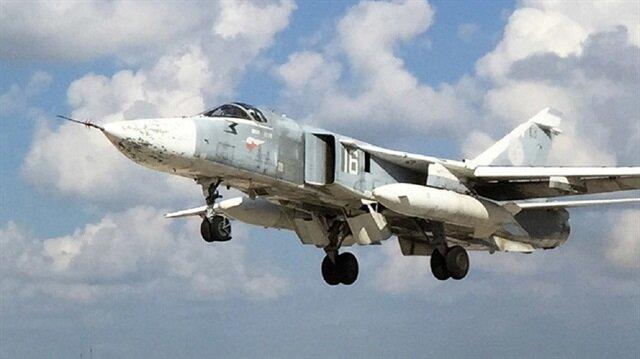 Suriye rejimine ait savaş uçağı