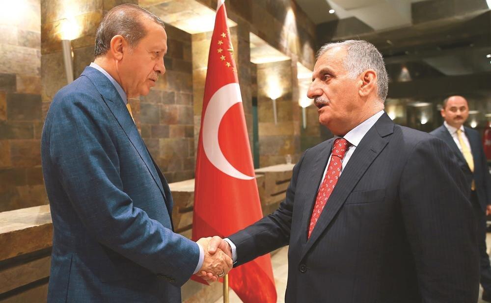 Cumhurbaşkanı Erdoğan'ın davetine Albayrak Grubu Yönetim Kurulu Başkanı Ahmet Albayrak katıldı.