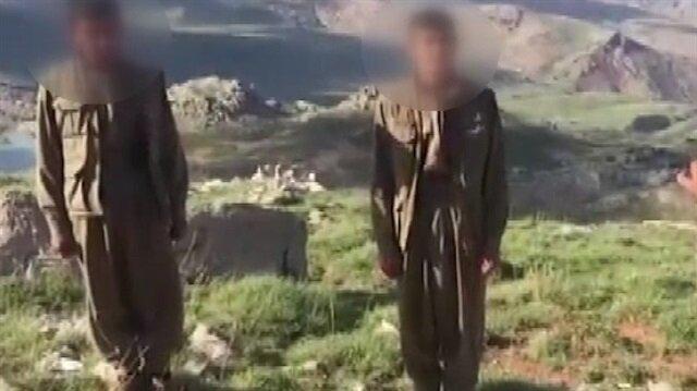 Siirt'te 2 teröristin teslim olma anı!