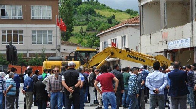Samsun Haber: Samsun'da olaylı yıkım: 3 gözaltı