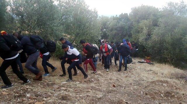 Çanakkale'nin Ayvacık ilçesinde yasa dışı yollarla Yunanistan'ın Midilli Adası'na geçiş yapmak isteyen 51 kaçak yakalandı.