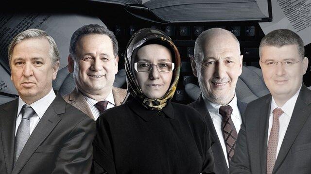 Aydın Ünal, Bülent Orakoğlu, Fatma Barbarosoğlu, Süleyman Seyfi Öğün ve Mehmet Acet.