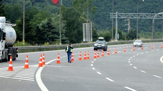 TEM otoyolunun Ankara yönü ulaşıma açıldı.