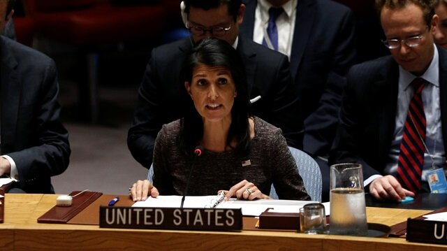 Haley: US saw preparations in Syria similar to April chemical attack