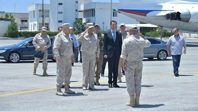 Esed'den Rus Üssüne ziyaret