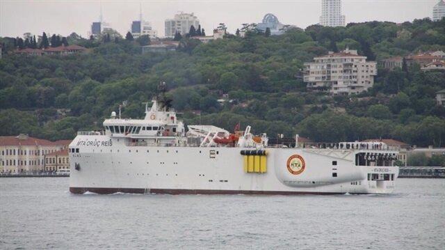 سفينة تركية تجري أبحاثًا جيولوجية في البحر الأسود