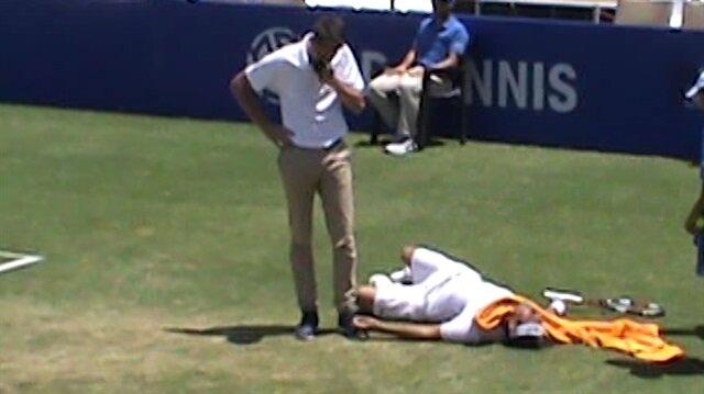 Antalya'da ünlü tenisçi maç sırasında bir anda bayıldı!