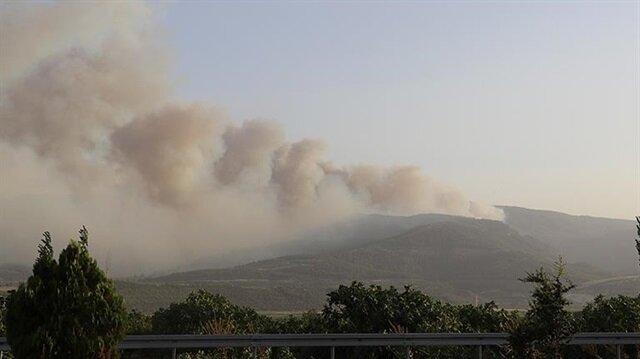 Orman yangını nedeniyle 3 mahalle boşaltıldı.