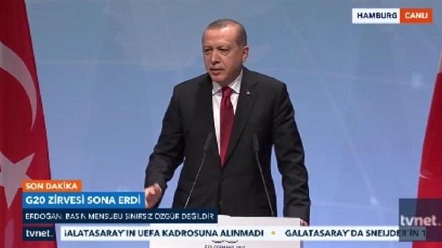 Cumhurbaşkanı Erdoğan'dan Alman gazeteciye muhteşem cevap