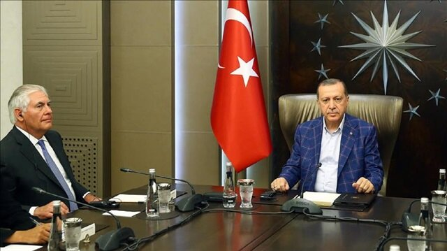 Turkish President Recep Tayyip Erdogan discusses Syria with U.S. secretary of state
