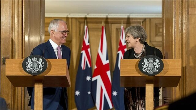 Theresa May holding talks with Australia's Malcolm Turnbull