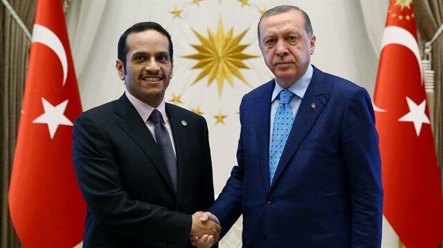 أردوغان يستقبل وزير الخارجية القطري في أنقرة