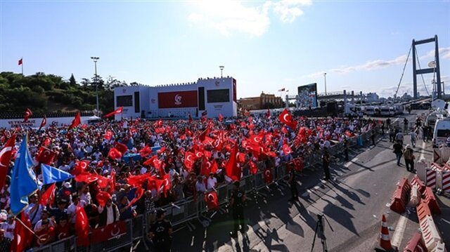 تدافق ألاف المواطنين نحو جسر الشهداء