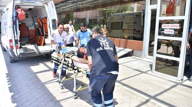 Tel Rİfat'ta yaralanan Suriyeli Kilis'te tedavi altına alındı