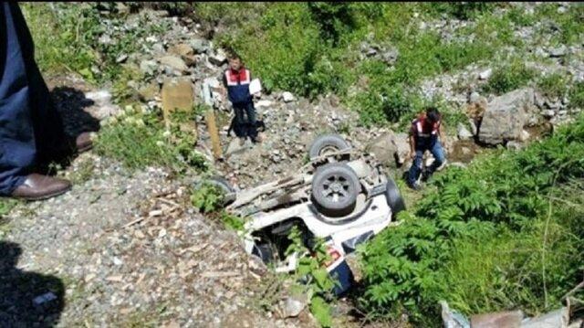 Giresun'da trafik kazası 1 ölü 2 yaralı