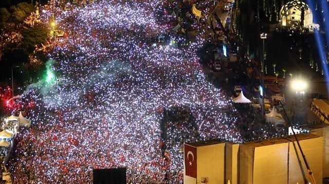 '15 Temmuz etkinliklerine 6 milyon kişi katıldı'