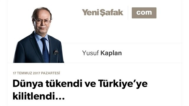 Dünya tükendi ve Türkiye'ye kilitlendi…