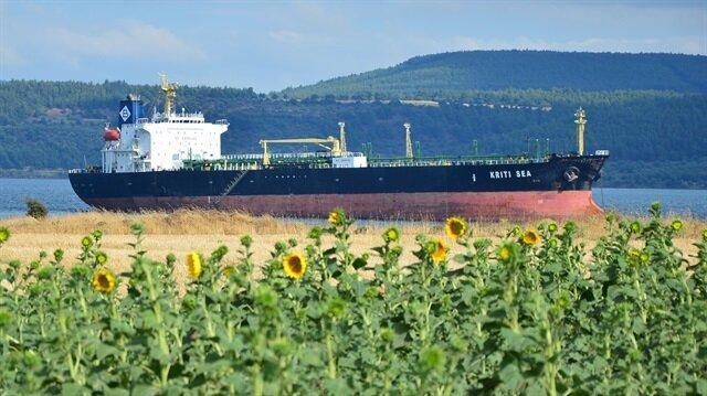 Çanakkale Boğazı'nda gemi karaya oturdu.
