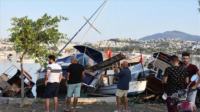 إجلاء 310 أتراك من جزيرة يونانية بعد زلزال ضرب بحر إيجه