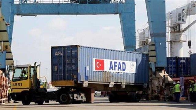 شاحنة مساعدات تركية جديدة لليمن