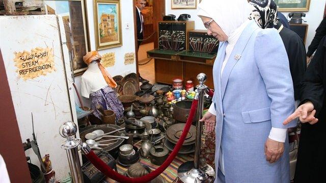عقيلة أردوغان تزور متحفًا للتراث الإسلامي في جدة السعودية