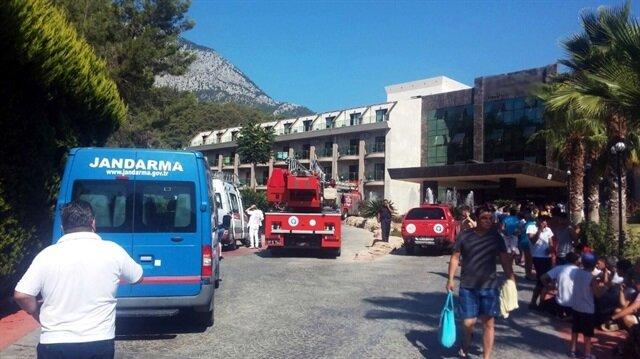 Antalya'da 5 yıldızlı otel de yangın