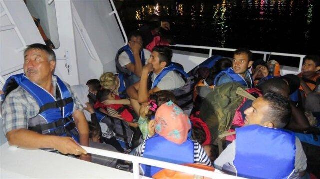 Ayvacık'ta 30 kaçak göçmen durduruldu