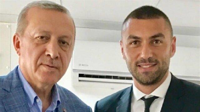Burak Yılmaz'dan 'Erdoğan' paylaşımı