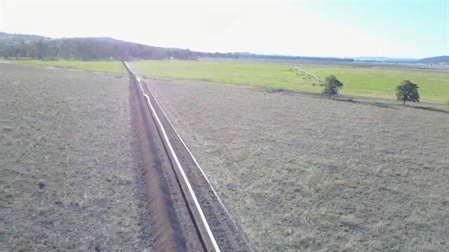 1 kilometrelik boruyu böyle yerleştirdiler