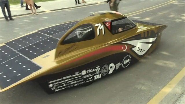 Güneş enerjisi ile çalışan 'B.O.W İSTKA' Avustralya yolcusu