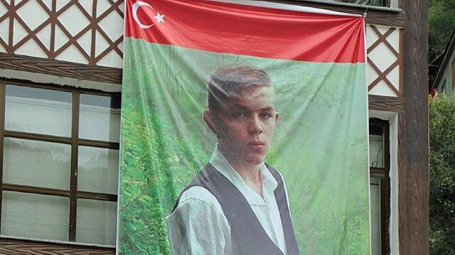 Turkish people commemorate 15-year-old Eren Bülbül, who martyred during terrorist PKK's attack in Turkey's Trabzon province on Friday night.