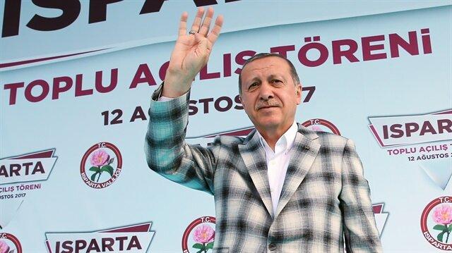 Cumhurbaşkanı Recep Tayyip Erdoğan Isparta'da Toplu Açılış Töreni'nde konuştu.