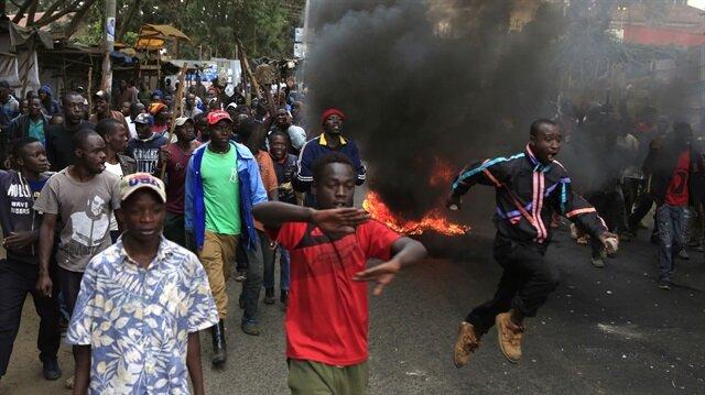 Kenya'daki seçim sonuçlarının açıklanmasının ardından başlayan protesto gösterileri